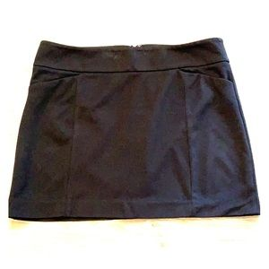 WHBM Black Mini Skirt